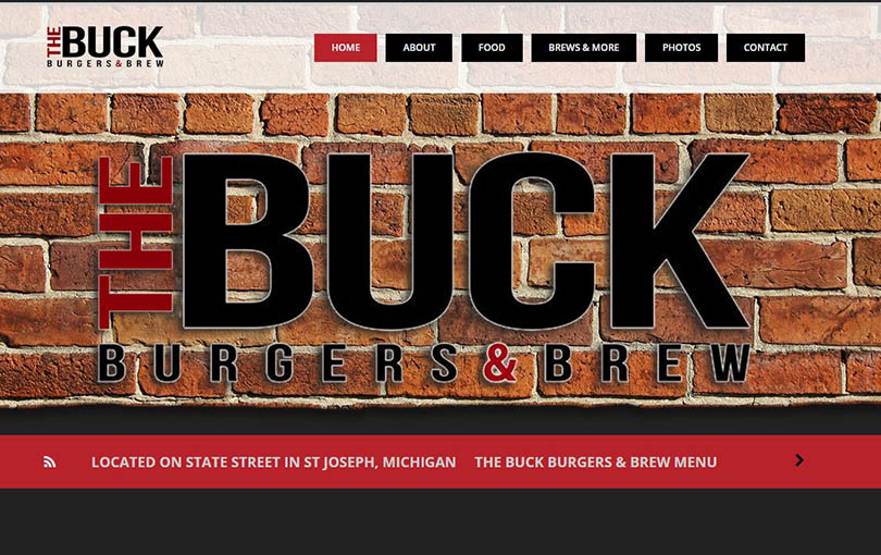 The Buck Burgers & Brew is located in St Joseph, Michigan