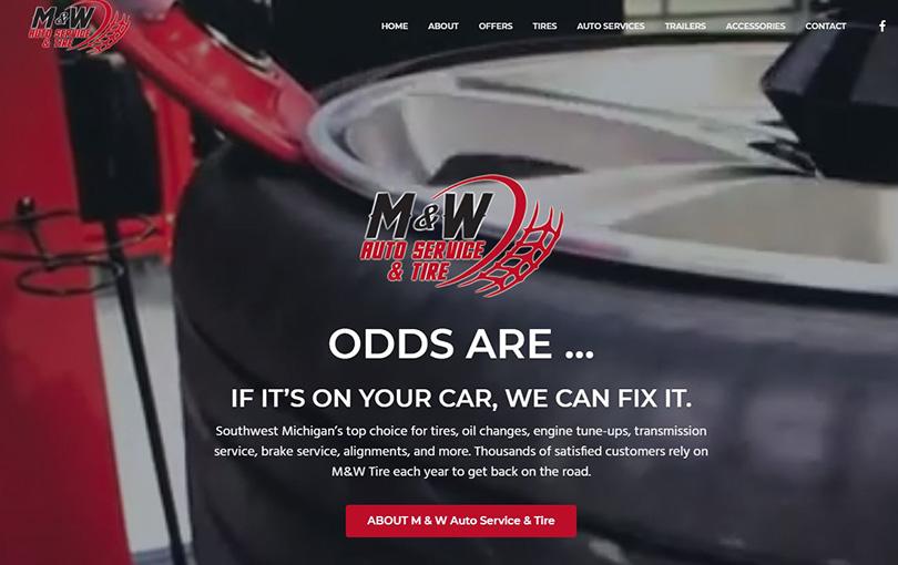 M & W Auto Service and Tireis located in Benton Harbor, Michigan