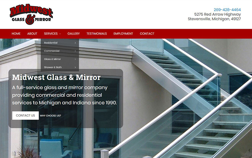 Midwest Glass & Mirror in Stevensville, Michigan